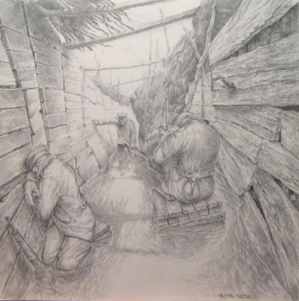 2012, 30x30 Bleistiftzeichnung