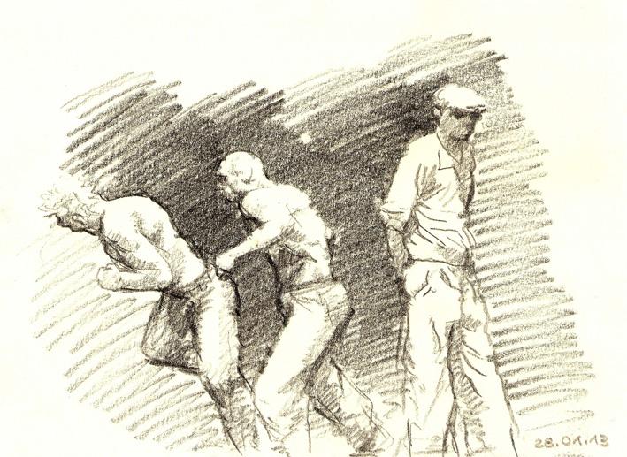 21x29  Zeichenstift auf Papier